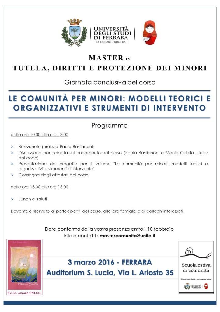 Le comunità per minori: modelli teorici e organizzativi e strumenti di intervento