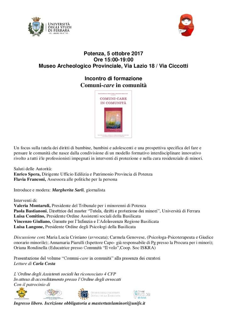 Basilicata, Comuni-care in comunità